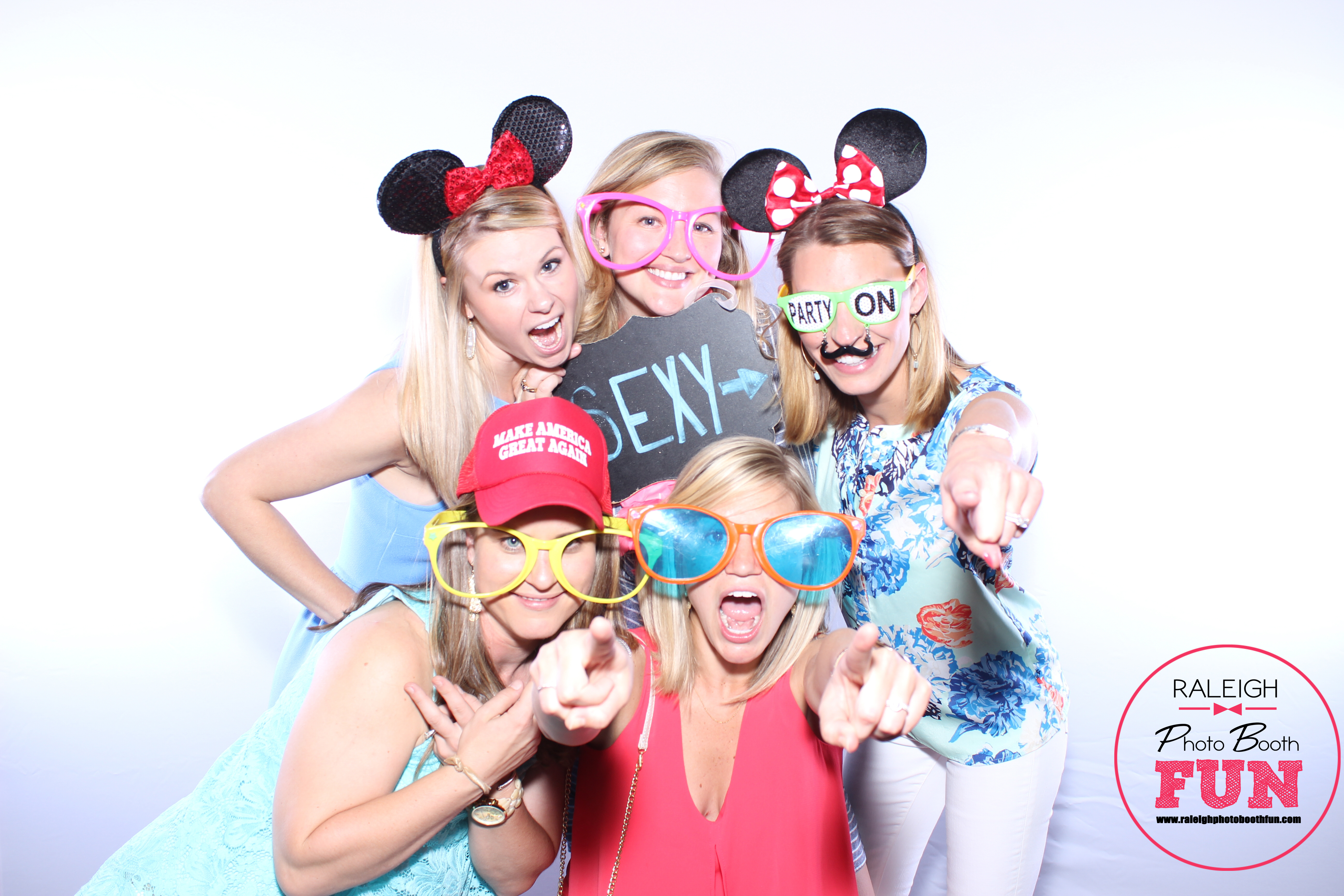 white backdrop photo booth rental Raleigh